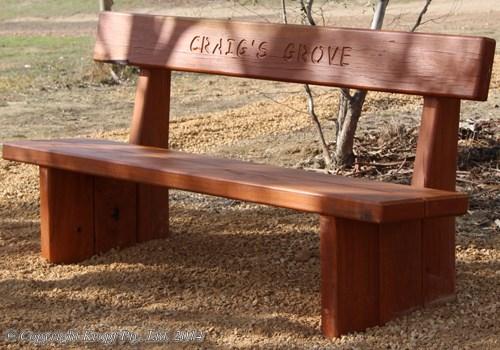 Timber Garden Furniture Memorial Seats